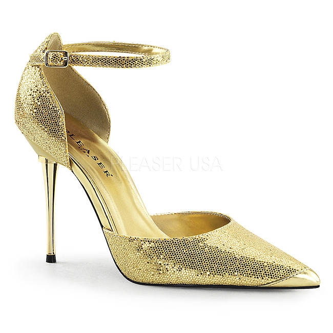 pleaser APPEAL-21 glitter pumps met metalen hak maat 39 - 40