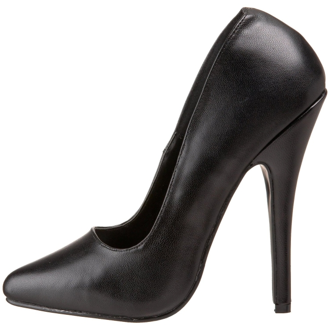 pleaser DOMINA-420 leer pumps schoenen met stiletto hak maat 38 - 39