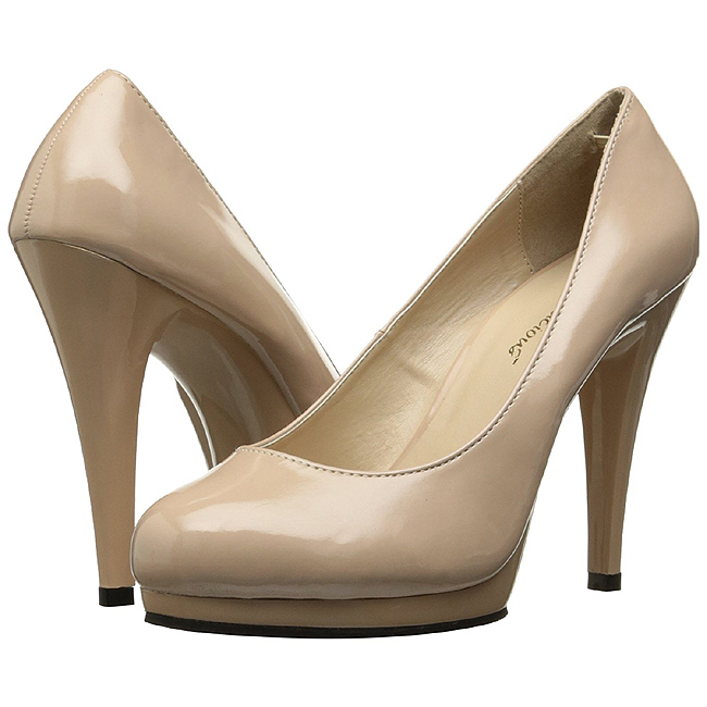 pleaser FLAIR-480 beige plateau pumps met hakken maat 36 - 37