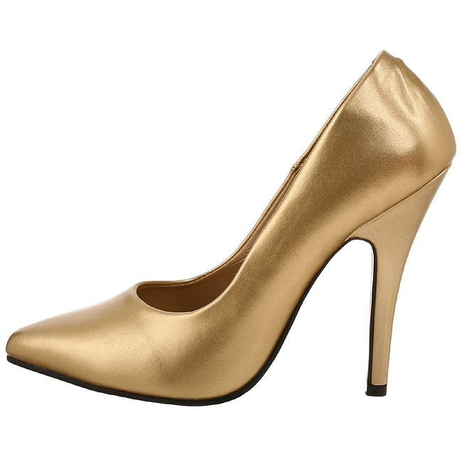 pleaser SEDUCE-420 goudkleurige pumps met hoge hakken maat 36 - 37