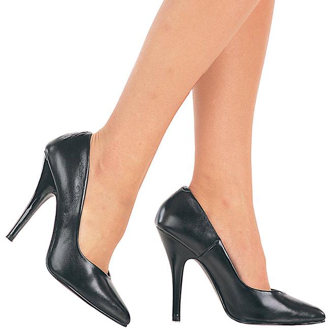 pleaser SEDUCE zwarte leren pumps schoenen met stiletto hak maat 39 - 40